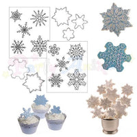 Autumn Carpenter Cookie Cutter Set SNOWFLAKES Sizes and Shapes