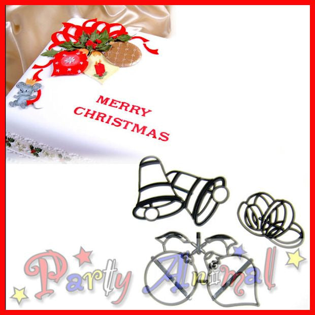 Patchwork Cutters CHRISTMAS BAUBLES BELLS AND BOWS SET