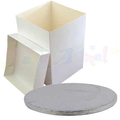 ROUND Board, Cake BOX and EXTENSION - Choose Size