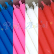 Bulk Pack of 500 Plain Birthday Cake Candles - Assorted Colours