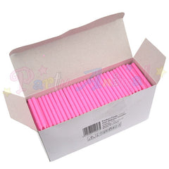 Bulk Pack of 500 Plain Birthday Cake Candles - Pink