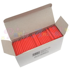 Bulk Pack of 500 Plain Birthday Cake Candles - Red