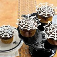 Chocowriter Chocolate Writing Tubes- Piped white Spider web idea
