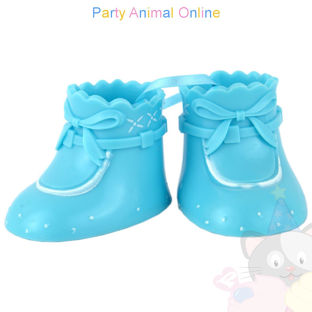 Cake Star Cake Topper - Booties - Blue