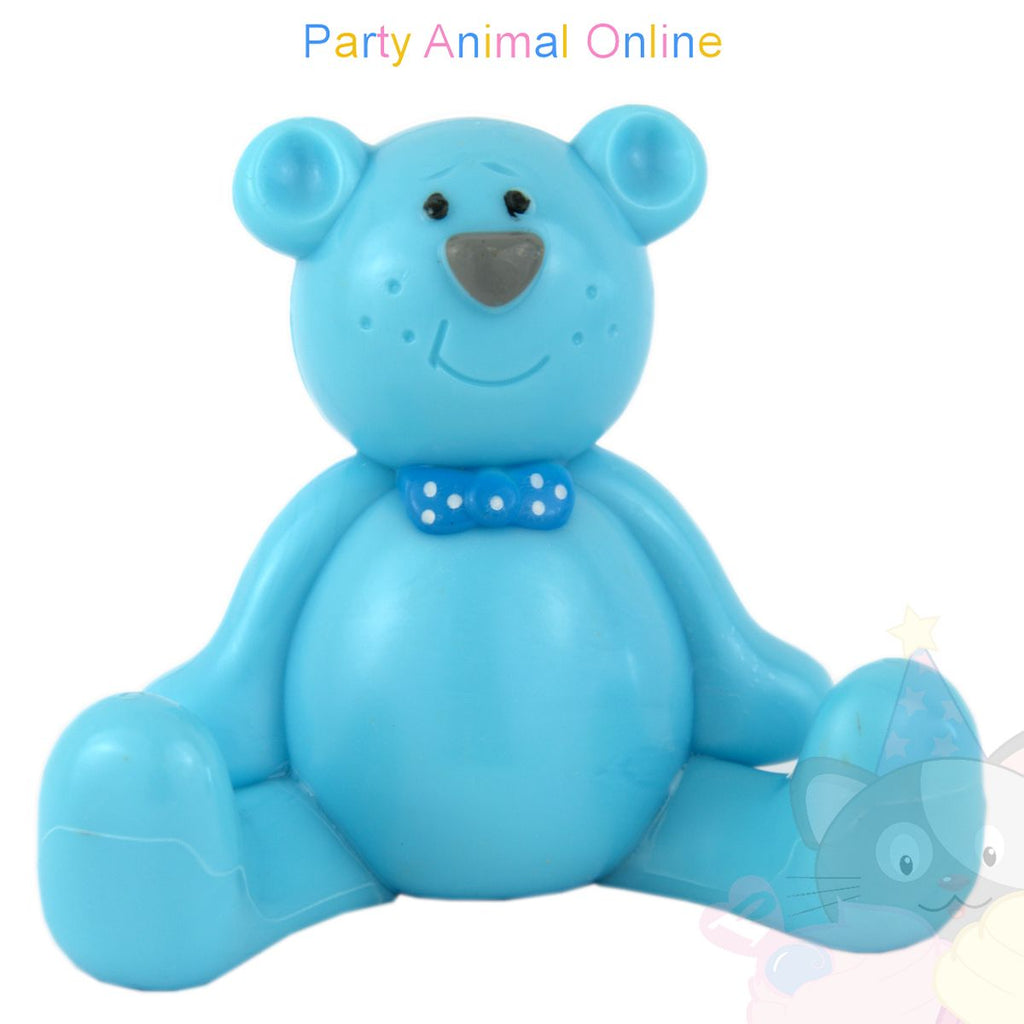 Cake Star Cake Topper - Teddy - Blue