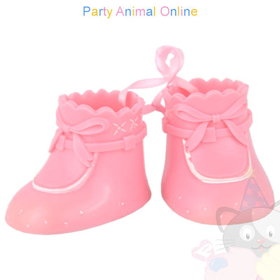 Cake Star Cake Topper - Booties - Pink