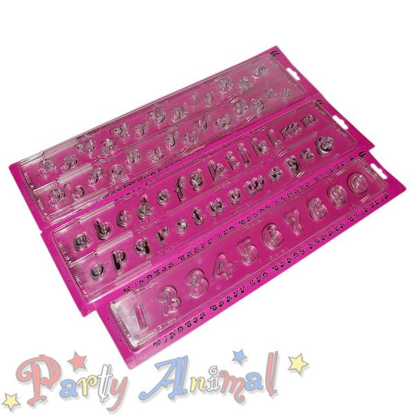 Windsor Clikstix Alphabet Cutters FULL Set - CANDY (Upper, Lower & Numbers)