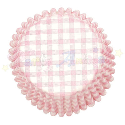 Cupcake/Muffin Baking Cases - Pink Gingham - approx 54/pack