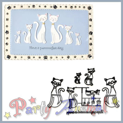 Patchwork Cutters CATS Cutter Set, embosser, image, partyanimalonline
