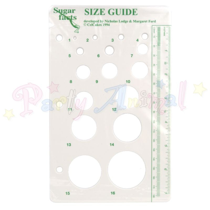 CelCakes and CelCrafts SIZE GUIDE for Modelling
