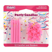 Culpitt Candles and Holders - Pink 12 pack
