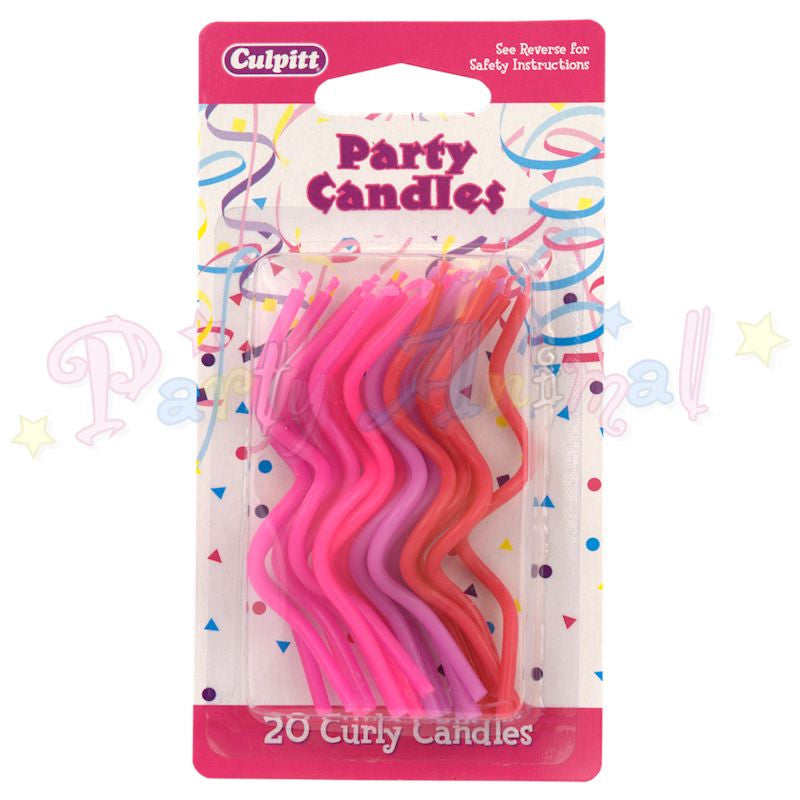 Culpitt Curley Birthday Candles - Pinks