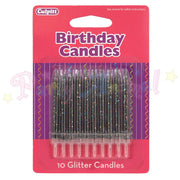 Culpitt Glitter Birthday Candles - Black