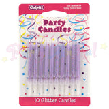 Culpitt Glitter Birthday Candles - Lilac