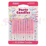 Culpitt Glitter Birthday Candles - Pink