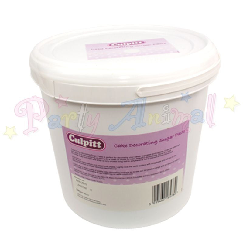 Culpitt Sugarpaste - Brilliant White 5Kg Tub