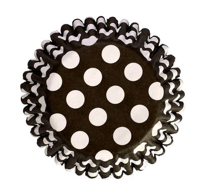Baking Cases - approx. 54/pack - Black Polka
