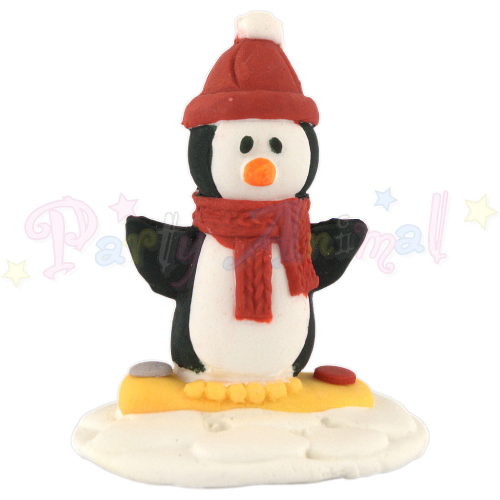 Claydough Cake Topper - Penguin in Bobble Hat