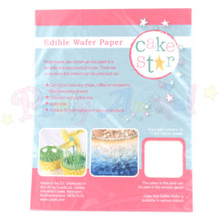 Cake Star Edible Wafer Paper: Pack of 12 sheets