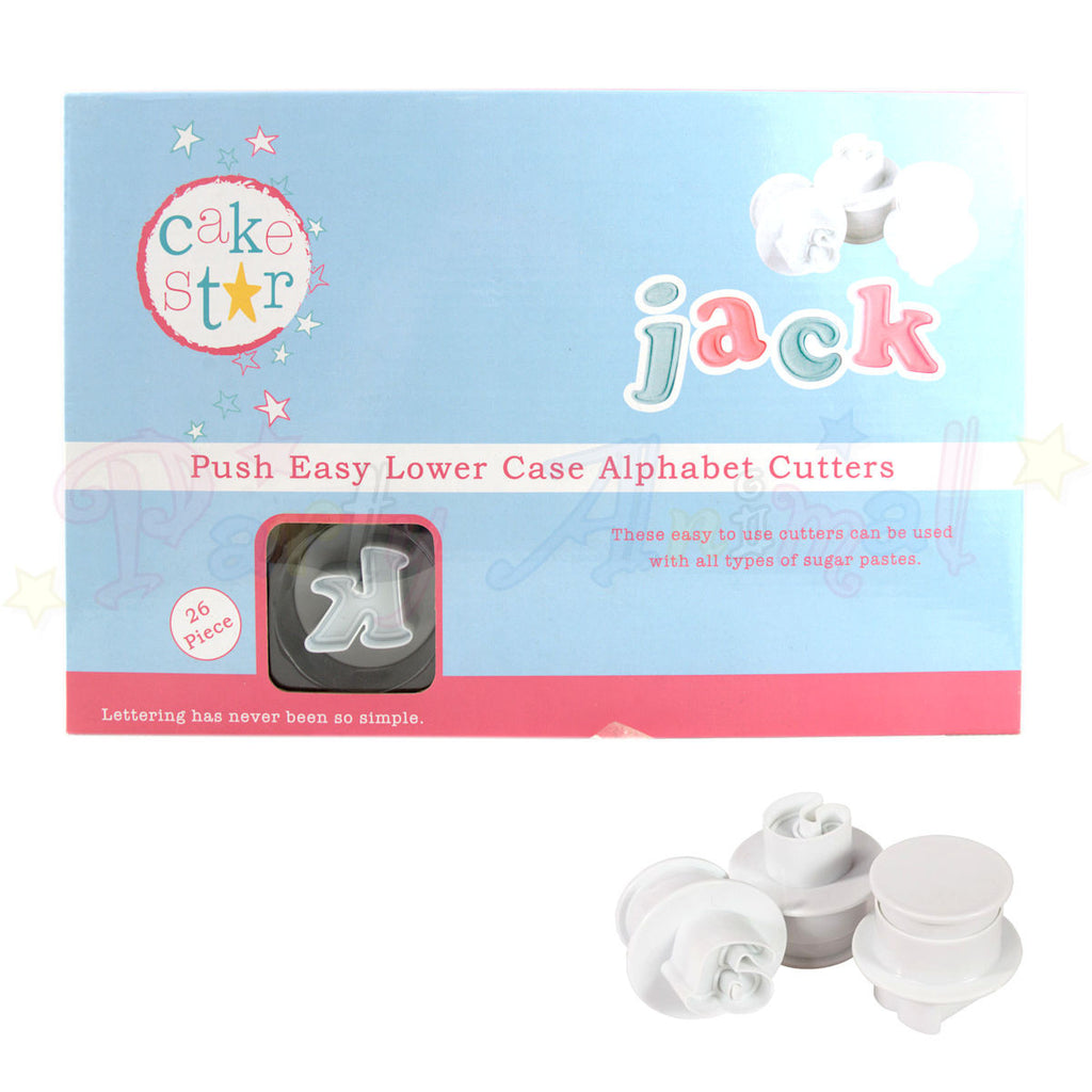 Cake Star Push Easy Large Lower Case Alphabet Plunger Cutter Set