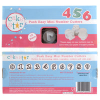 Cake Star Push Easy Plastic Mini Number Plunger Cutter Set