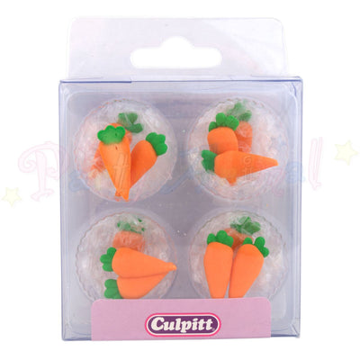 Culpitt Edible Piped Decorations CARROT Cupcake Toppers