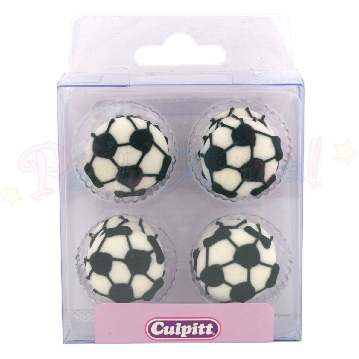Culpitt Edible Piped Decorations FOOTBALL Cupcake Toppers
