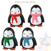 Christmas Cake Topper Set - Penguin Friends Set of 4