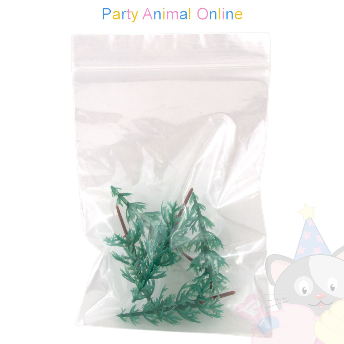 Christmas Cake Topper Set - Plastic Trees Pack of 5