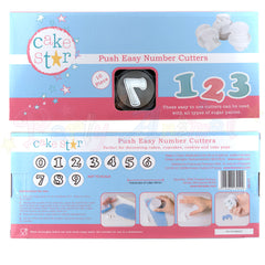 Cake Star Push Easy Plastic Number Plunger Cutter Set