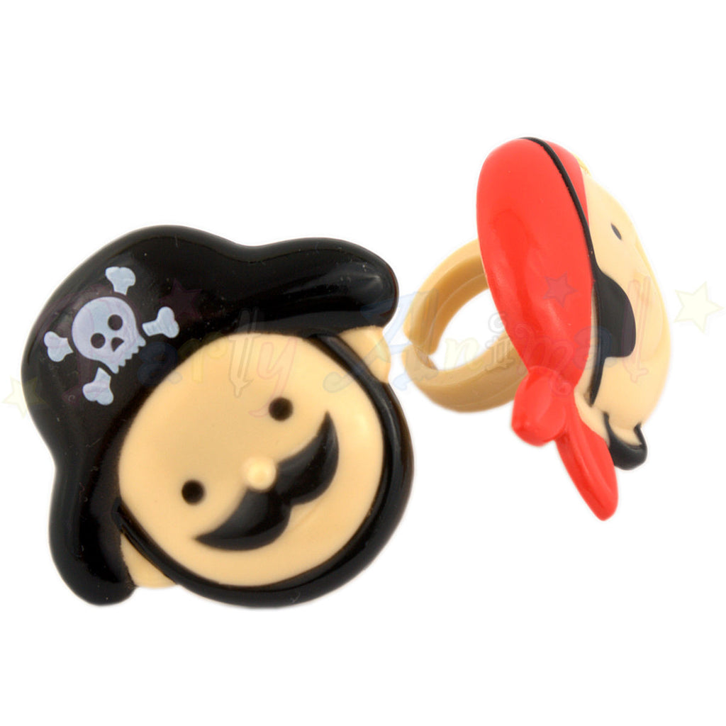 Cupcake Rings - Pirate Cupcake Toppers 12/pack