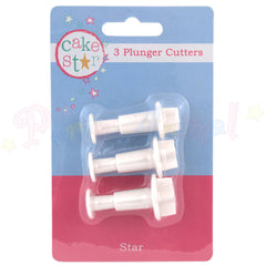 Culpitt Plastic Plunger Cutters - STAR set of 3