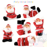Christmas Cake Topper Set - Tumbling Santas Set of 6
