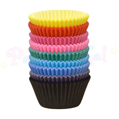 Baking Cases - approx. 144/pack - Plain Bright Colours