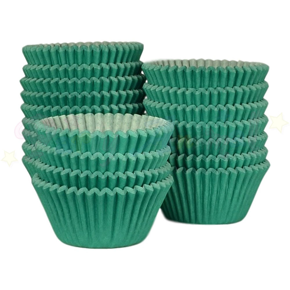 Baking Cases - approx. 500/pack - Plain Dark Green