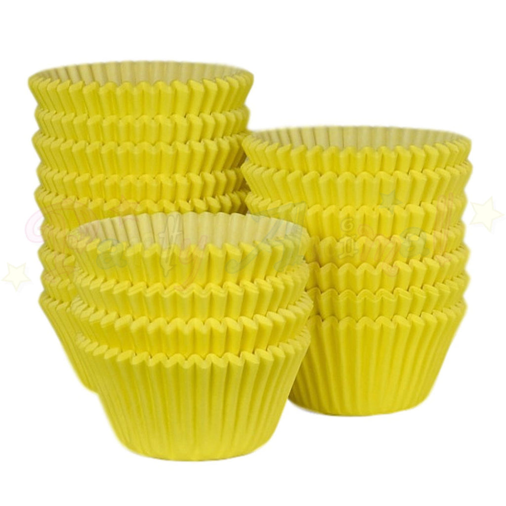 Baking Cases - approx. 500/pack - Plain Yellow