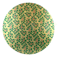 "ROUND Double Thick Christmas Themed Cake Board - 10"" (254mm)"