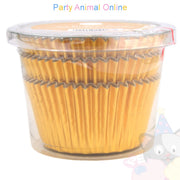 Metallic Foil Muffin Cases - approx. 45/pack - Gold
