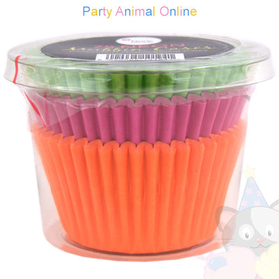 Small Muffin Baking Cases - 75 pack - Neon Colours