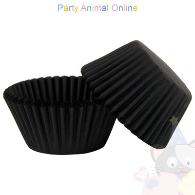 Small Muffin Baking Cases - 50 pack - Black