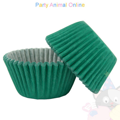 Small Muffin Baking Cases - 50 pack - Green