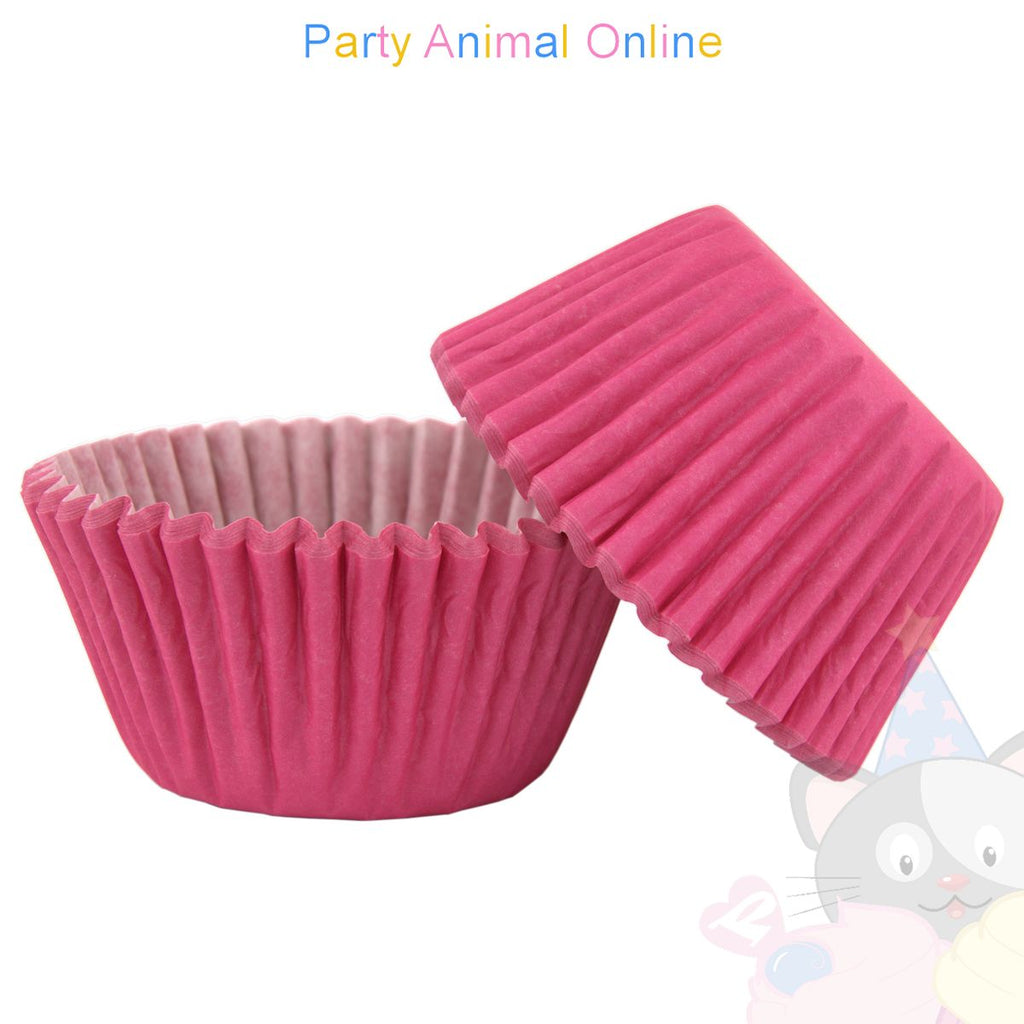 Small Muffin Baking Cases - 50 pack - Hot Pink
