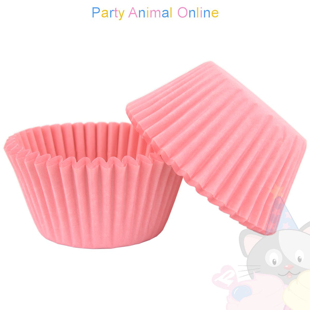 Small Muffin Baking Cases - 50 pack - Pink