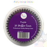 Small Muffin Baking Cases - 50 pack - Purple