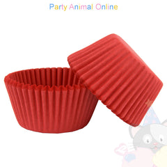 Small Muffin Baking Cases - 50 pack - Red