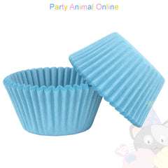Small Muffin Baking Cases - 50 pack - Sky Blue