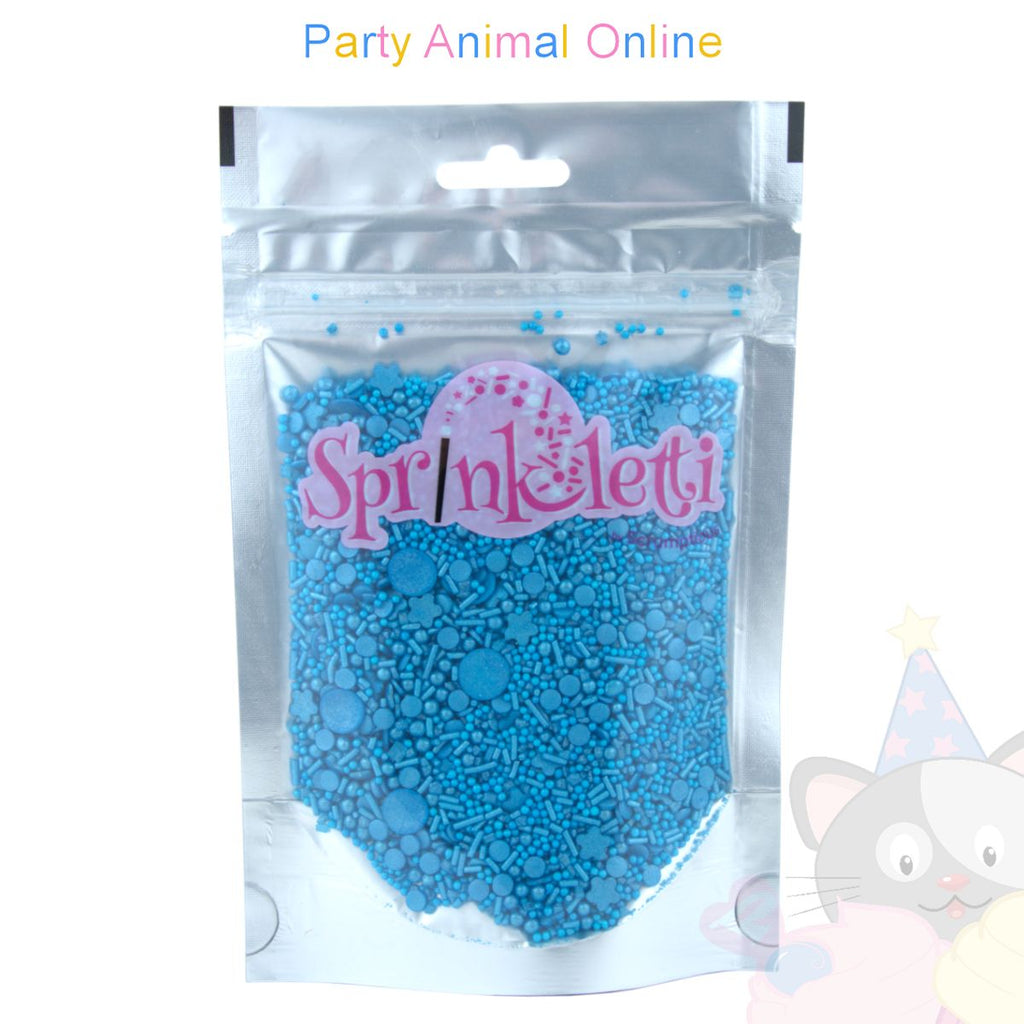 Sprinkletti - Edible Sprinkles Range - Blue Mix 100g