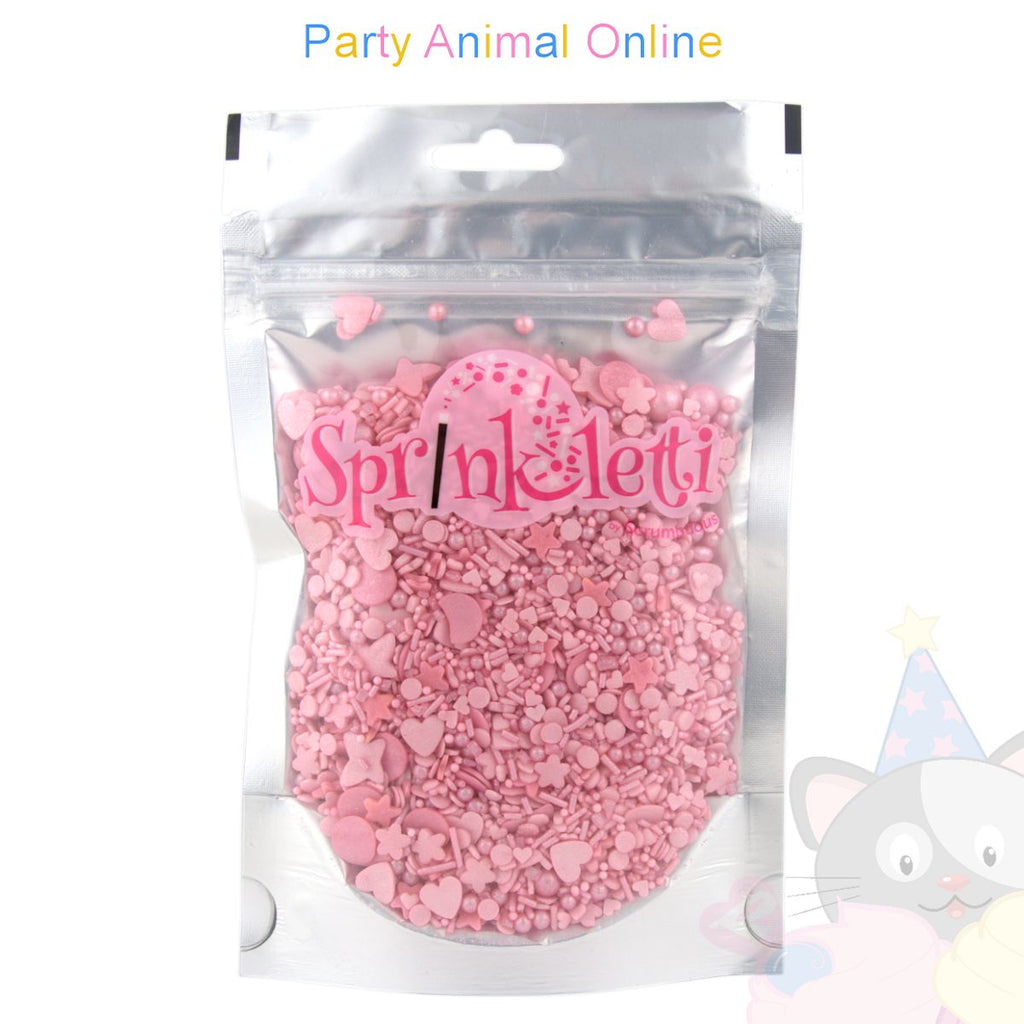 Sprinkletti - Edible Sprinkles Range - Pink Mix 100g