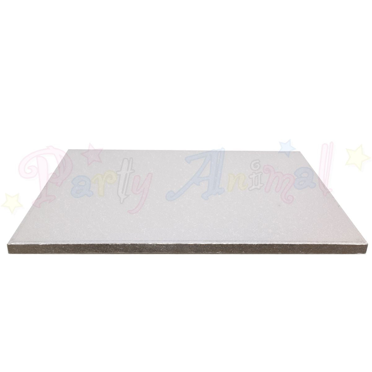"OBLONG Drum Cake Boards - 14x12"" Silver Foil"