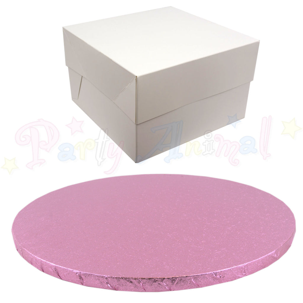 ROUND Drum Cake Board and Box Set - PALE PINK Drum - Choose Size